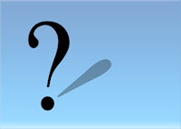 Fragezeichen - Ausrufezeichen