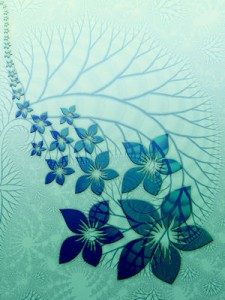 fraktales Blumenbild