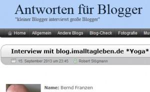 Interview von Robert Stögmann mit Bernd Franzen